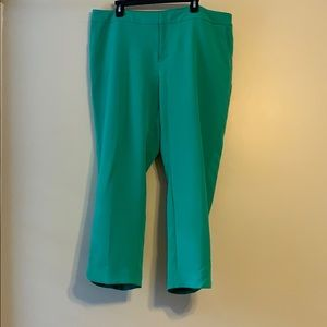 Pants - Green ankle pants